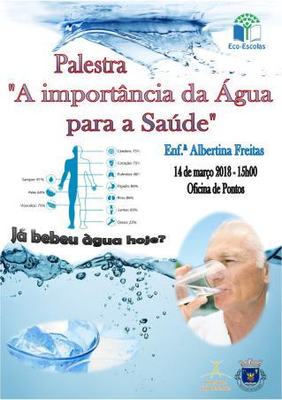 Cartaz Palestra 'A importância da água para a saúde'
